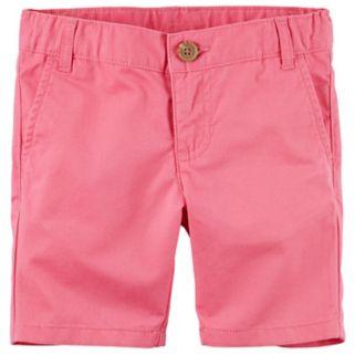 Girls 4-8 Carter's School Uniform Twill Shorts