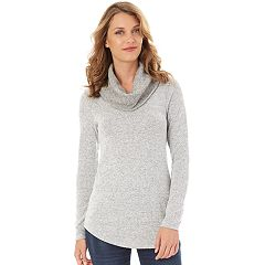 Womens Grey Cowlneck Sweaters - Tops, Clothing   Kohl's