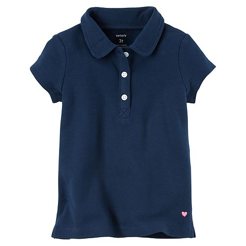 Girls 4-8 Carter's Solid Polo