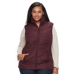Plus Size Weathercast Puffer Vest