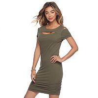 Juniors' Candie's® Cutout Bodycon Dress
