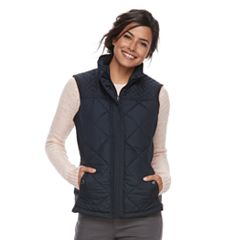 Women's Weathercast Quilted Faux-Fur Lined Vest
