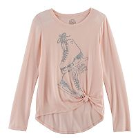 Girls 7-16 SO® Cozy Side Knot Tee