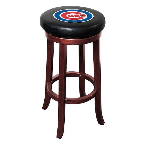 Chicago Cubs Wooden Bar Stool