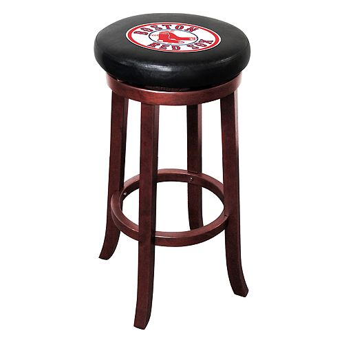 Wondrous Boston Red Sox Wooden Bar Stool Evergreenethics Interior Chair Design Evergreenethicsorg
