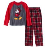 Disney's Mickey Mouse Boys 4-12 Top & Microfleece Bottoms Pajama Set by Jammies For Your Families