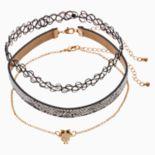 Mudd® Owl, Faux Snakeskin & Tattoo Choker Necklace Set