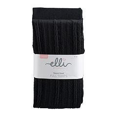 Girls 4-14 Elli by Capelli 2 pkCable Knit Fleece Tights