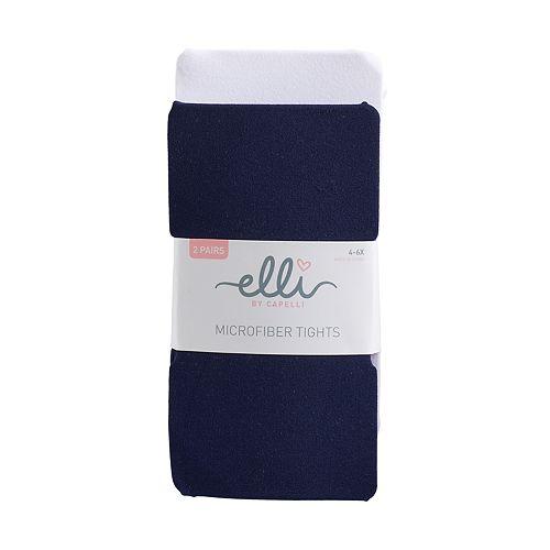 Girls 4-14 Elli by Capelli 2-pk. Microfiber Fashion Tights