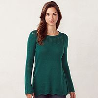 Women's LC Lauren Conrad Pointelle Crewneck Sweater