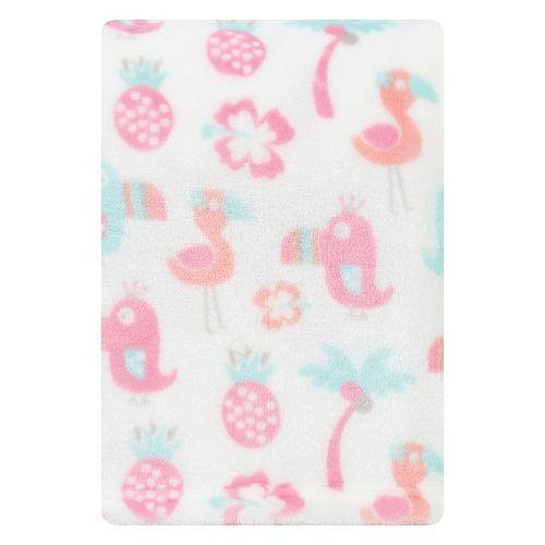 Trend Lab Tropical Pastel Plush Baby Blanket