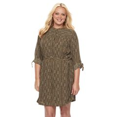 Plus Size Apt. 9® Printed Shirtdress
