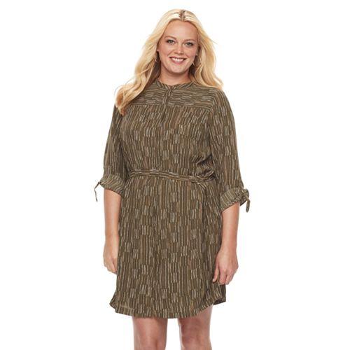 Plus Size Apt. 9® Printed Shirtdress