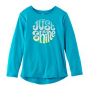 Girls 4-6x adidas High-Low Long-Sleeved Graphic Tee
