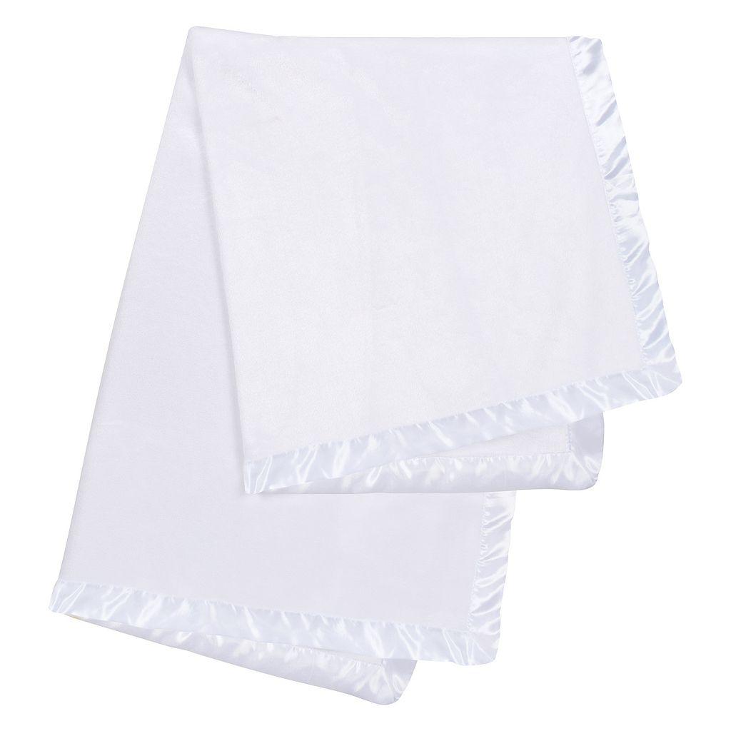 Trend Lab Plush Satin Trim Baby Blanket