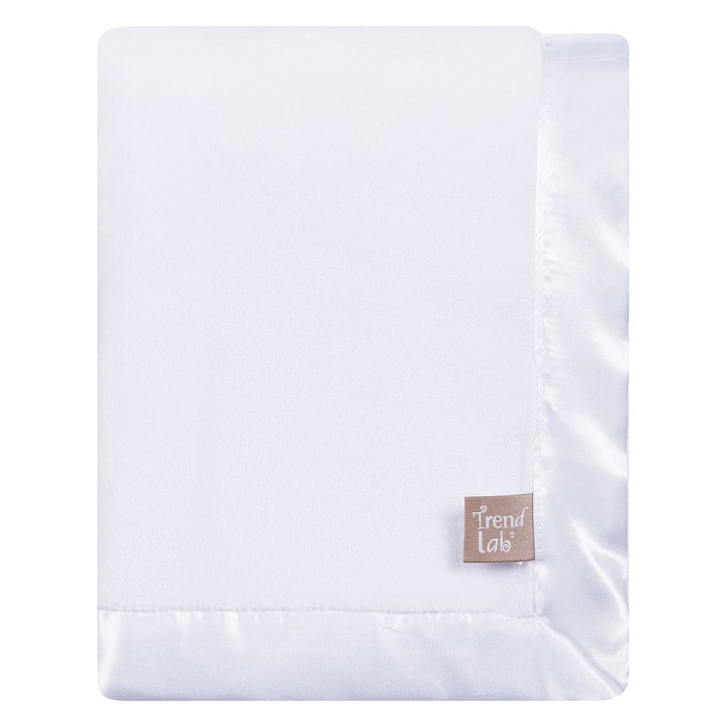 Trend Lab Plush Satin Trim Baby Blanket