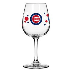 Boelter Chicago Cubs Polka-Dot Wine Glass
