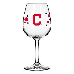 Boelter Cleveland Indians Polka-Dot Wine Glass