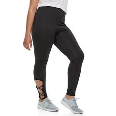 Juniors' Plus Size SO® Cut-Out Yoga Leggings