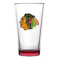 Boelter Chicago Blackhawks Embossed Pint Glass