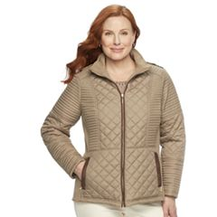 Plus Size Weathercast Quilted Midweight Side-Stretch Jacket