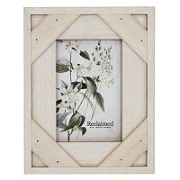 New View Farmhouse Crosshatch Wood Frame