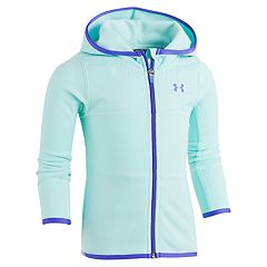 Toddler Girl Under Armour Lightweight Blue Hundo Fleece Zip-Up Hoodie