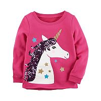 Girls 4-8 Carter's Sequin Unicorn Sweatshirt