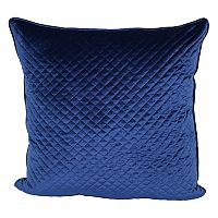 Pin Diamond Quilted Velvet Look Plush Throw Pillow