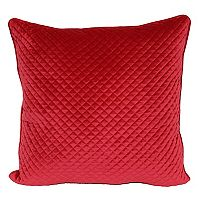 Pin Diamond Quilted Velvet Look Plush Throw Pillow