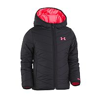 Toddler Girl Under Armour Midweight Black Premier Puffer Jacket