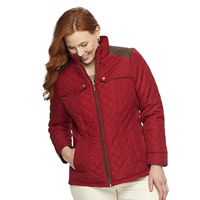 Plus Size Weathercast Quilted Side-Stretch Jacket