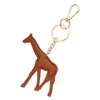 Giraffe Animals Metal Keyring 025