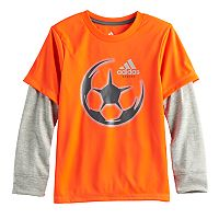 Boys 4-7x adidas Mock-Layer Soccer Tee