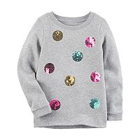 Girls 4-8 Carter's Sequin Dot Sweatshirt