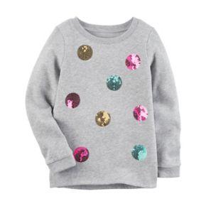 Girls 4-8 Carter's Sequin Dot Sweatshirt