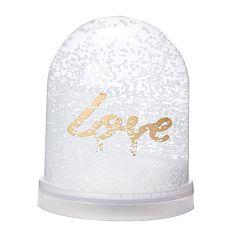 'Love' Snow Globe