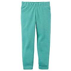 Girls 4-8 Carter's Turquoise Glitter Skinny Jeggings