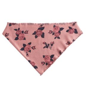 Candie's® Rose & Plaid Reversible Triangle Scarf