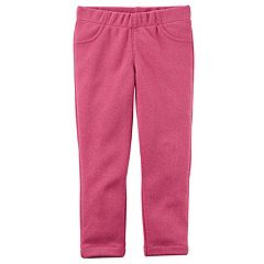 Girls 4-8 Carter's Pink Sparkle Skinny Jeggings
