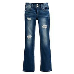 Girls 7-16 & Plus Size Mudd® Destructed Bootcut Jeans