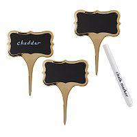 4-pc. Chalkboard Cheese Label & Marker Set