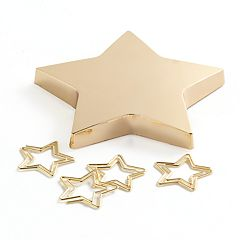 Star Paperweight & Paper Clip Set