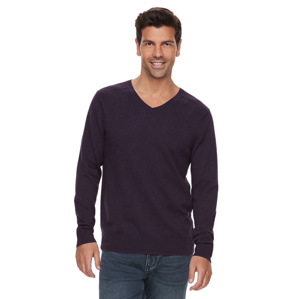 Marc Anthony Slim-Fit Soft-Touch Modal V-Neck Sweater
