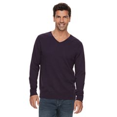Mens Purple V-Neck Sweaters - Tops, Clothing | Kohl's