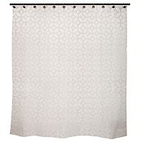 Kenney Geometric Frost PEVA Shower Curtain Liner