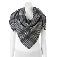 Candie's® Plaid Triangle Scarf