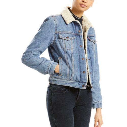 Women S Levi S Sherpa Lined Trucker Jacket