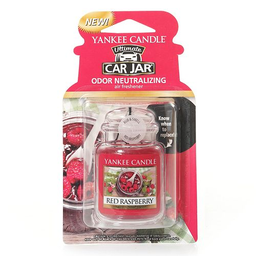 Yankee Candle Car Jar Red Raspberry Air Freshener