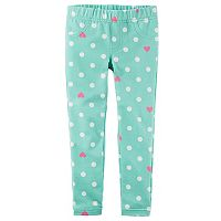 Girls 4-8 Carter's Polka Dot & Heart Jeggings